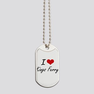 I love Kings Ferry Georgia artistic desi Dog Tags