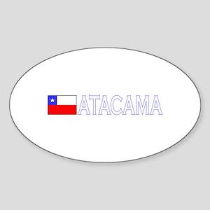 Atacama, Chile Oval Sticker