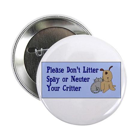 """Don't Litter! 2.25"""" Button (10 pack)"""