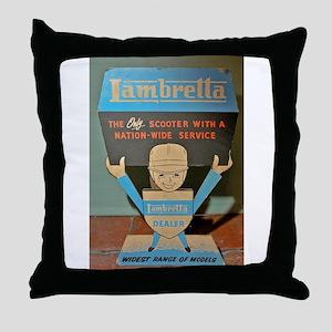 LAMBRETTA DEALER Throw Pillow