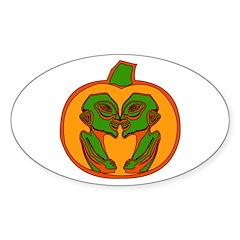 Halloween Aliens Oval Decal