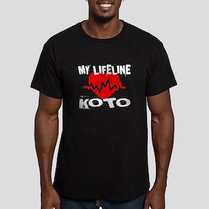 My Life Line Koto Musi Men's Fitted T-Shirt (dark)