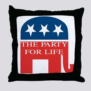 GOP Party for Life Throw Pillow