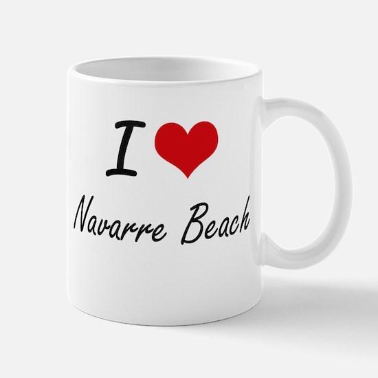 I love Navarre Beach Florida artistic design Mugs