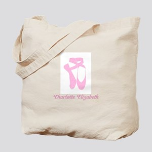 Team Pointe Ballet Candy Curls Personaliz Tote Bag