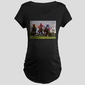 racing horses Maternity T-Shirt