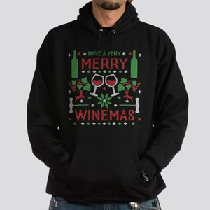 Merry Winemas Wine Ugly Christmas Sweater Hoodie