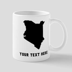 Kenya Silhouette (Custom) Mugs