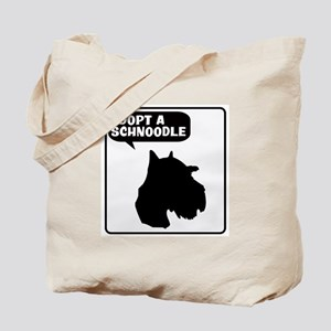 Adopt a Schnoodle Tote Bag