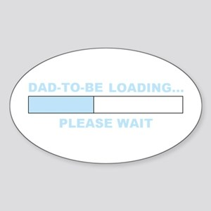 DAD-TO-BE LOADING... Oval Sticker