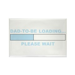 DAD-TO-BE LOADING... Rectangle Magnet (100 pack)