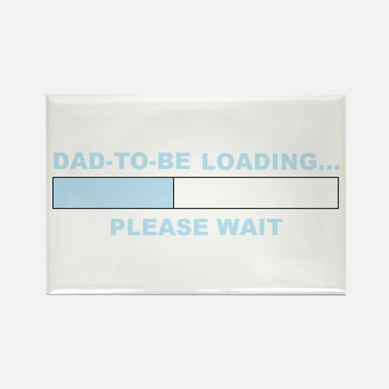 DAD-TO-BE LOADING... Rectangle Magnet