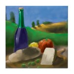 Burgundy Wine Tile Coaster