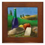 Burgundy Wine Framed Tile
