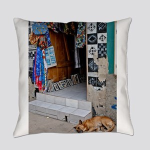 LET SLEEPING DOGS LIE Everyday Pillow