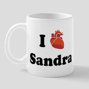I (Heart) Sandra Mug
