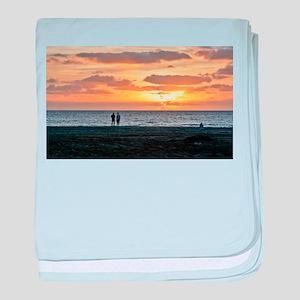 CAPE VERDE, BEACH SUNSET 1 baby blanket