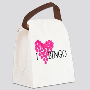 I heart bingo Canvas Lunch Bag