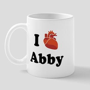 I (Heart) Abby Mug
