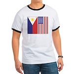Philippine Flag & US Flag Ringer T