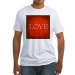 Love Red Fitted T-Shirt