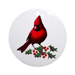 cardinal christmas tree ornaments cafepress