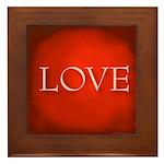 Love Red Framed Tile