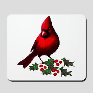 Christmas Cardinal Mousepad