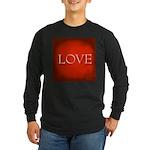 Love Red Long Sleeve Dark T-Shirt