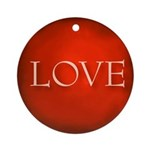 Love Red Round Ornament