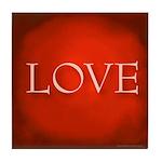 Love Red Tile Coaster