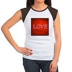 Love Red Junior's Cap Sleeve T-Shirt