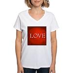 Love Red Women's V-Neck T-Shirt