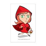 Red Riding Mini Poster Print