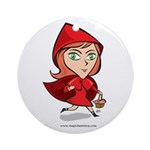 Red Riding Round Ornament