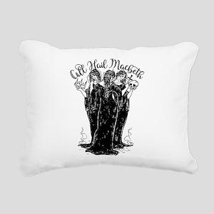 Witches All Hail Macbeth Rectangular Canvas Pillow