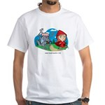 Red Riding White T-Shirt