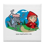 Red Riding Tile Coaster