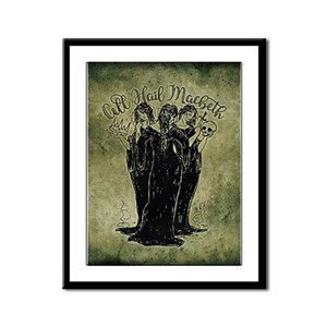 Witches All Hail Macbeth Framed Panel Print