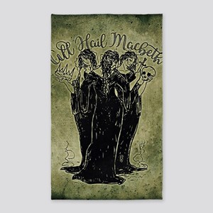 Witches All Hail Macbeth Area Rug