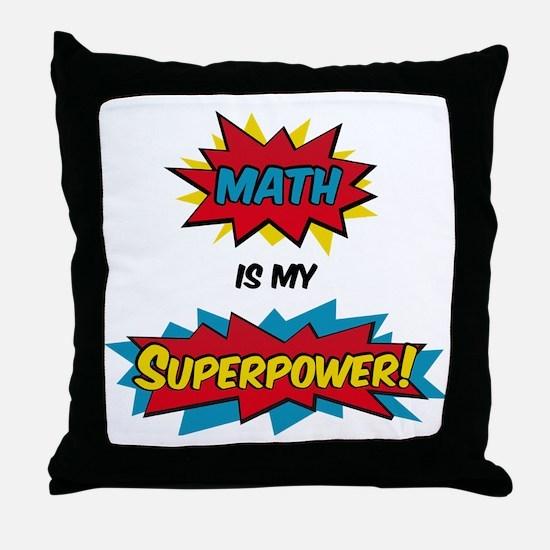 Funny Superhero Throw Pillow