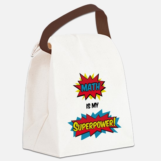 Funny Superhero Canvas Lunch Bag