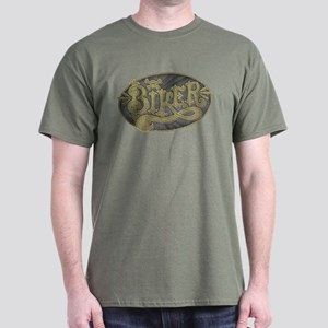 Antique Signage Biker Dark T-Shirt