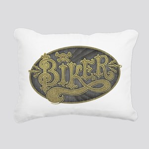 Antique Signage Biker Rectangular Canvas Pillow