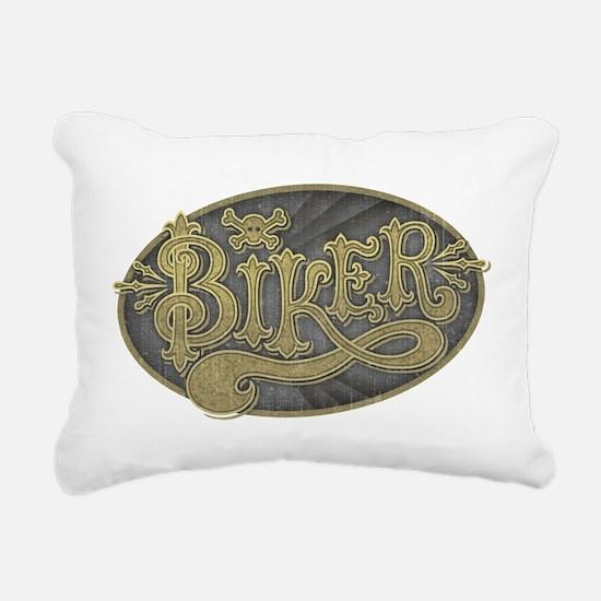Antique Signage Biker Rectangular Canvas Pillow
