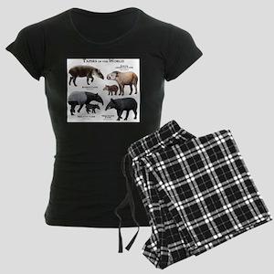 Tapirs of the World Women's Dark Pajamas