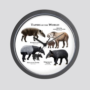 Tapirs of the World Wall Clock