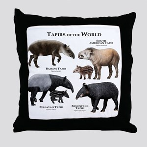 Tapirs of the World Throw Pillow