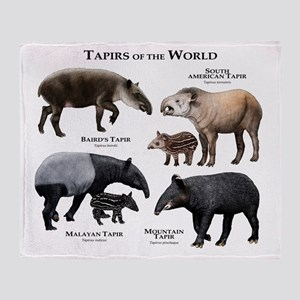 Tapirs of the World Throw Blanket
