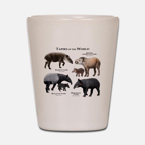 Tapirs of the World Shot Glass